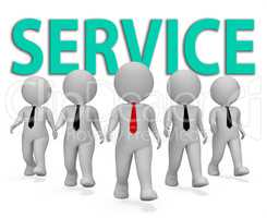 Service Businessmen Represents Commercial Entrepreneurial And Fi