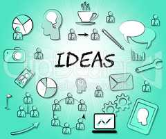 Ideas Icons Means Choices Choose And Think