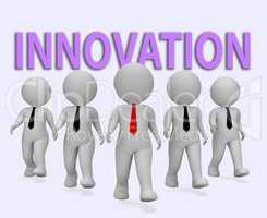 Innovation Businessmen Means Transformation Entrepreneurs And Re