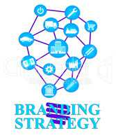 Branding Strategy Shows Branded Planning And Brands