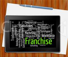 Franchise Word Means Prerogative Wordclouds And Words Tablet