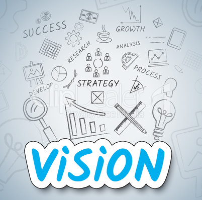 Vision Ideas Indicates Target Considering And Reflect