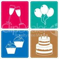 Celebrate Icons Represents Parties Joy And Cheerful