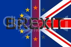 Brexit Flags Indicates Britain Remain Leave And European