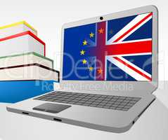 Brexit Laptop Indicates Britain Decision Www And Vote