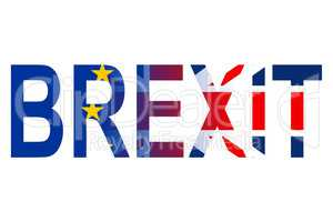 Brexit Word Represents Britain Eu Union And Great