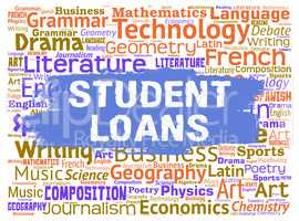 Student Loans Represents Learning Borrowing And Funding
