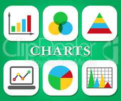 Graph Charts Means Statistic Infograph And Graphics