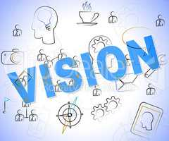 Vision Word Represents Planning Words And Aspire