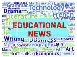 Educational News Shows Social Media And Article