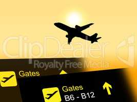 Flight Vacation Indicates Transport Aeroplane And Departure
