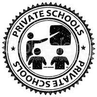 Private Schools Shows Non Government And Educated