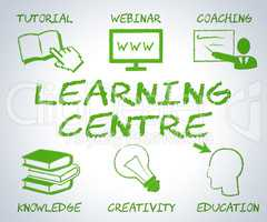 Learning Centre Represents Websites Searching And Study