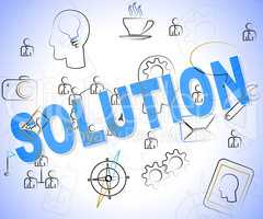 Solution Word Shows Successful Achievement And Resolve