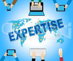 Business Expertise Represents Skill Web And Corporation