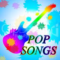 Pop Songs Indicates Sound Track And Acoustic
