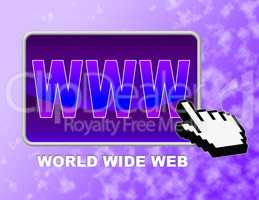 Www Button Represents Network Mouse And Websites