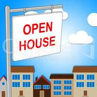 Open House Means Cheap Offers And Building