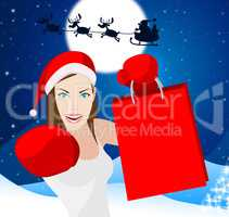 Christmas Shopping Shows Retail Sales And Adult
