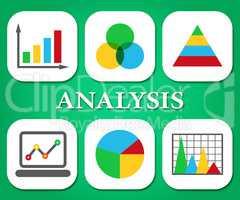 Analysis Charts Indicates Data Analytics And Analysts