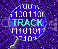 Track Online Means Web Site And Communication