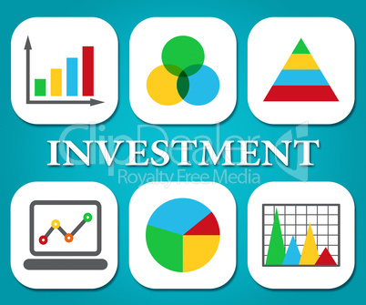 Investment Charts Shows Business Graph And Forecast