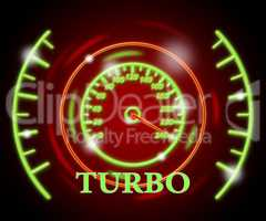 Turbo Gauge Shows Indicator Supercharger And Turbine