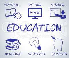 Education Online Indicates Web Site And Educated