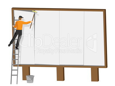 Copyspace Billboard Indicates Promotion Sign And Promote