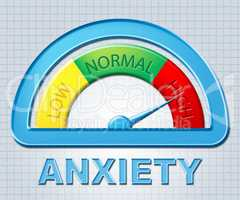 High Anxiety Means Nerves And Stress Indicator