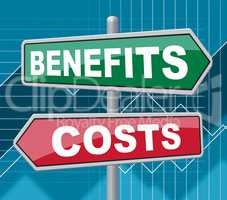 Benefits Costs Signs Represent Expenses And Compensation