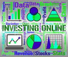 Investing Online Means Business Graph And Charts