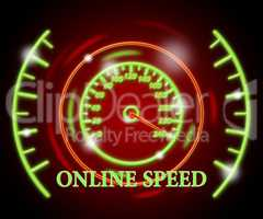 Online Speed Represents Fast Tachometer And Action
