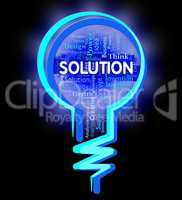 Solution Lightbulb Indicates Succeed Achievement And Goals