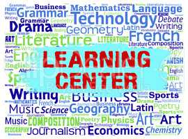 Learning Center Means Study Words And Education