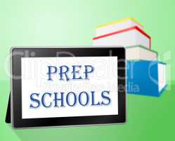 Prep Schools Shows Tablets Educating And Paying