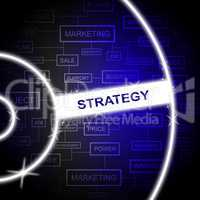 Strategy Word Represents Solutions Planning And Tactics