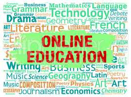 Online Education Represents Web Site And Educated