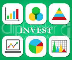 Finance Graphs Indicates Return On Investment And Charts