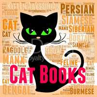 Cat Books Shows Kitten Knowledge And Feline