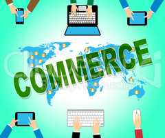 Commerce Online Indicates Web Site And Business