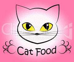 Cat Food Indicates Feline Eating And Cuisine