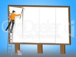 Copyspace Billboard Represents Banner Promotional And Advertisem