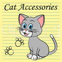 Cat Accessories Means Pets Pedigree And Felines