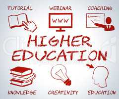 Higher Education Indicates Tertiary School And College