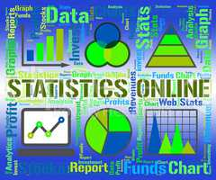Statistics Online Represents Business Graph And Analysis