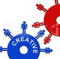 Creative Cogs Represents Gear Wheel And Clockwork
