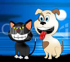 Happy Pets Represents Domestic Dog And Cat