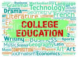 College Education Indicates Schooling Learned And Courses