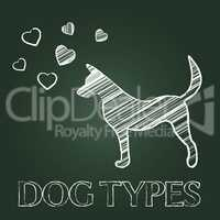 Dog Types Represents Category Classes And Pedigree